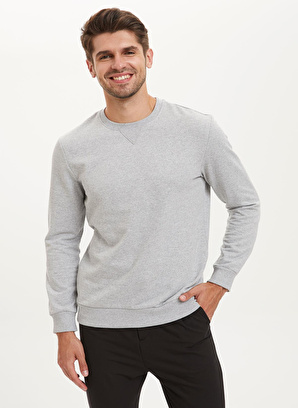 DeFacto Regular Fit Bisiklet Yaka Sweatshirt